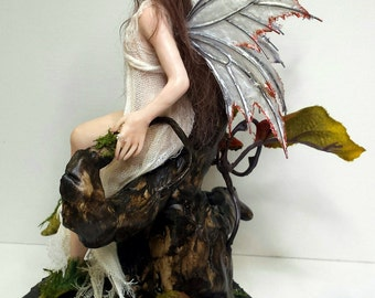 Molly, OOAK Hand Sculpted Fantasy Fairy Art Doll Collectible