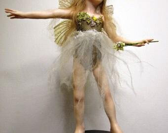 Ariel, OOAK Hand Sculpted Fantasy Fairy Art Doll Collectible
