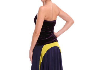 Tango Skirt with Tail, Tango Clothing in Custom Size, Tango Clothes in Custom Color