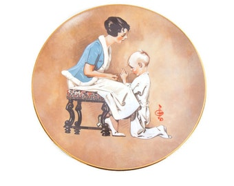 Vintage Mothers Day Plate God Bless Mommy 1978 First Edition Royal Cornwall JC Leyendecker Limited Edition Plate Number 2 of 10000