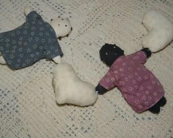 2 Stuffed Rag Dolls, Ethnic Dolls, Cloth Dolls
