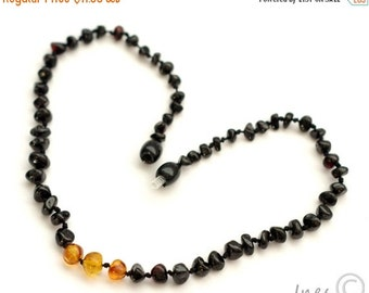 15% OFF THRU OCT Baltic Amber Baby Teething Necklace Cherry Color Beads