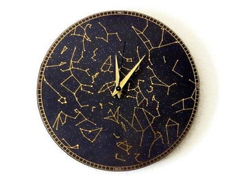 Wall Clock, Constellation Clock, Trending, Modern Wall Clock, Home and Living, Home Decor, Astrology, Astronomy Clock, Decor & Housewares