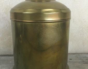 Vintage Brass Cigar Humidor Tin