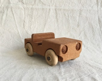 Vintage Handmade Wooden Car