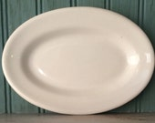 Buffalo China Serving Platter or Side Plate, Classic White Oval, 7""