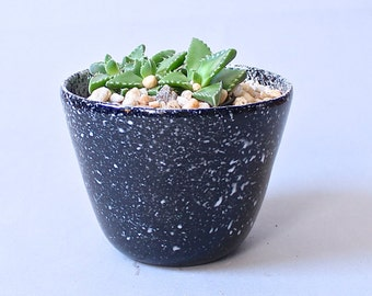 Black Speckled Planter Ready to Ship