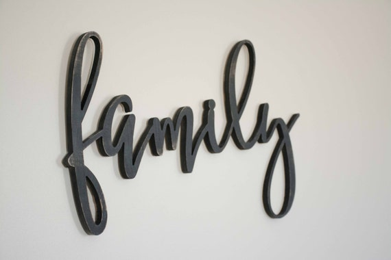 Family Wood Sign Custom Made Home Decor, Gallery Wall