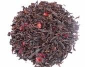 CHERRY EARL Grey Tea, Organic Loose Leaf Black Tea, Hand Blended, Cherry Bergamot Tea, Caffeinated, 1oz Earth Friendly Package