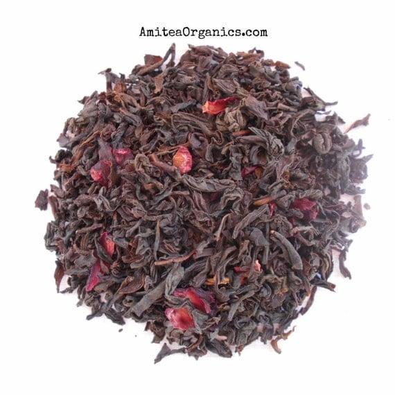 Earl Grey with Cherry, CHERRY EARL Tea Blend, Organic,Hand Blended, Unique Tea, Cherry Bergamot Tea, Caffeinated, 2oz Earth Friendly Box