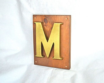 Big Capital M Door Knocker Is Not Shy, Vintage