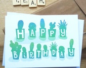 Happy Birthday cactus card
