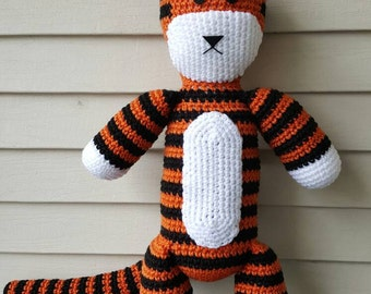 Hobbes Plush (Amigurumi)  Inspired by the Calvin and Hobbes Comic, Auburn Tiger