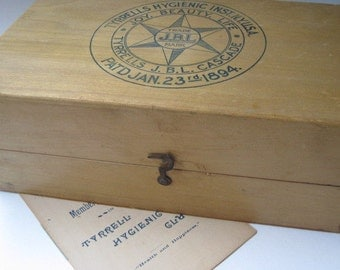 Antique Tyrrells Hygienic Cascade Instrument Box with Pamphlet 1908
