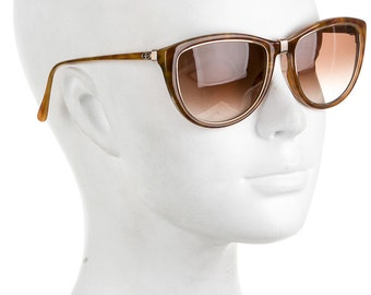 CHRISTIAN DIOR 80s Pool Party Glam / Luxe Vintage Oversized Gold Cat Eye Designer Sunglasses