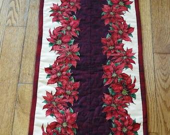Christmas Poinsettias Table Runner