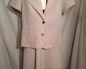 Vintage 70s Woman's Dress and Blazer Sears Fashions Size 22 1/2 t10
