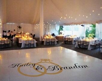 Vinyl floor decals wedding gurus floor for Wedding dance floor size