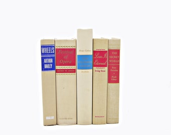 BLond Beige Decorative Books,  Book Set, Wedding Centerpiece,Old Book Decor, IVory BOoks, Instant Library, Books, Book Collection, maugham