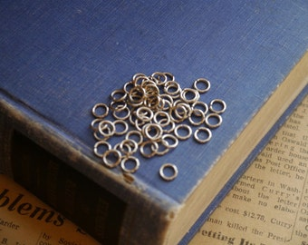500 pcs HEAVY DUTY  Antique Silver Jump Rings 6mm (BF2843)
