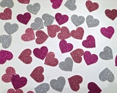 Heart Glitter Confetti -- Valentines Day Party / Bridal Shower / Birthday Party / Bachelorette Party /  Wedding Decorations