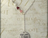 This Year I Love Myself Hand Stamped Necklace, self love, Valentine's Day, single ladies, I love me