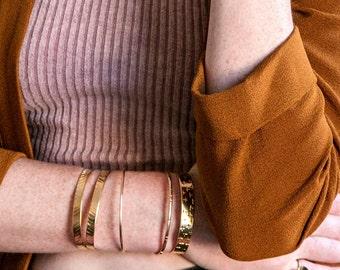 Plus Pattern Cuff / heavy 14k gold plate / positive vibes bracelet