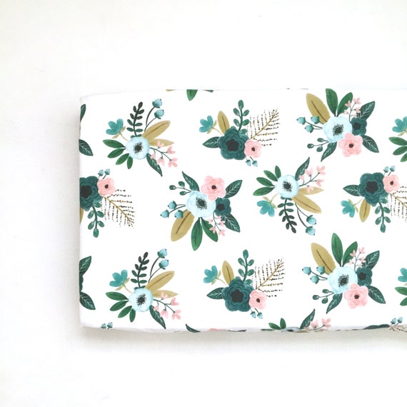 Changing Pad Cover Teal Bouquets. Change Pad. Changing Pad. Minky Changing Pad Cover. Floral Changing Pad Cover. Changing Pad Girl.