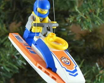 SALE** Coast Guard Jet Ski Christmas Ornament