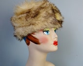 Variegated Fur Hat / Vtg ...