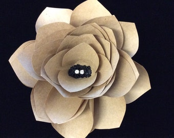 "6"" Kraft Paper Flower"