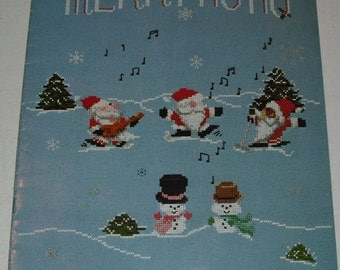MERRY HO HO Christmas COunted Cross Stitch mini Santa patterns