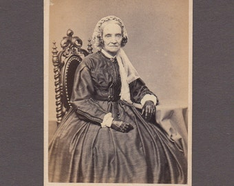Gutekunst CDV of a Well Dressed Older Woman
