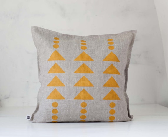 Linen pillow, throw pillows, triangle print, tribal print pillow, kids throw pillow, pillow covers, sofa pillows, pillowcase, graphic design