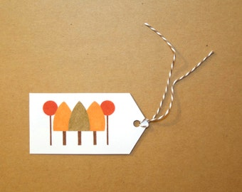 Autumn Trees - Set of Six GIFT TAGS