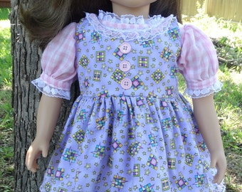 "23"" Doll Clothes Dress and Pinafore for My Twinn Dolls"