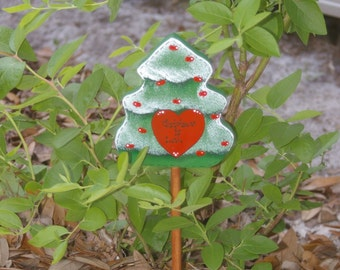 Christmas Tole Painted Wooden Plant Pick - Christmas is Love
