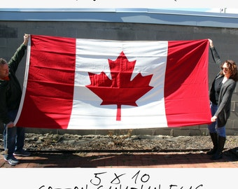 Large Cotton Canadian Flag - Valley Forge Flag Co - Maple Leaf - Red - White - 5 ft. by 10 ft. - Wall Hanging