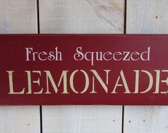 Handmade Wood Sign - Lemonade