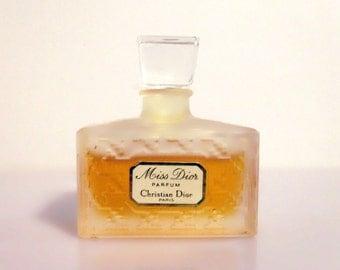Vintage 1970s Miss Dior by Christian Dior Pure Parfum Miniature Mini PERFUME