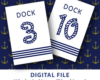 Table numbers printable Nautical wedding Nautical table numbers Dock Striped Blue Rope 4x6 table numbers 1-30 Destination Wedding Navy blue