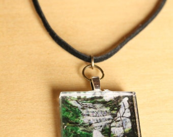 Ohio Falls Pendant Necklace -  Wearable Art by Mandolin Artworks