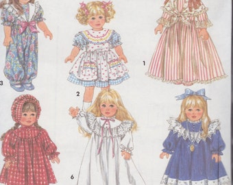 Doll Clothing Patterns - Wardrobe for 18 inch Girl Dolls - Six Outfits plus Pantaloons - Panties - Boots - Shoes