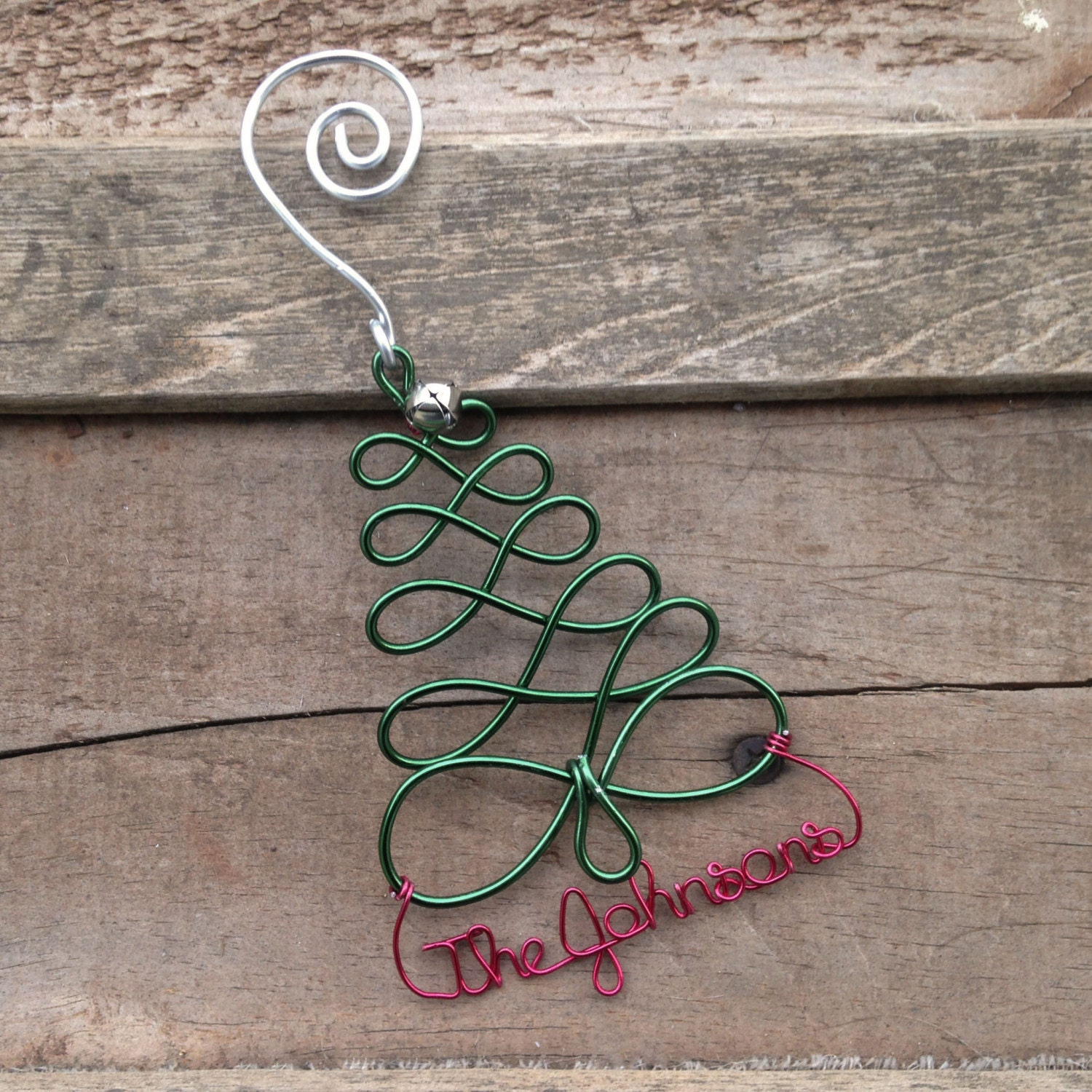 Personalized Holiday Christmas Tree Ornament Handcrafted