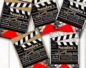 Red Carpet Movie Party Invitation Printable Invitation DIY Printable Hollywood Invite
