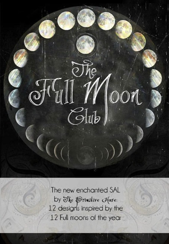 The Full Moon Club SAL - includes 12 designs