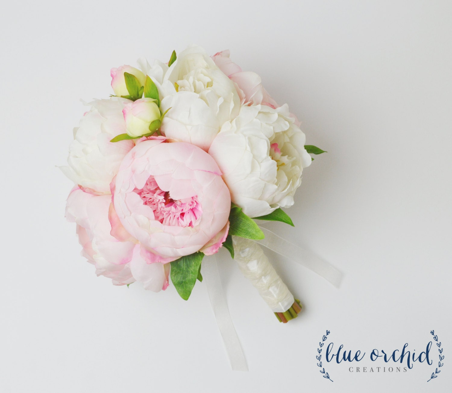 Peony bouquet with white and pink peonies silk peony wedding zoom dhlflorist Images
