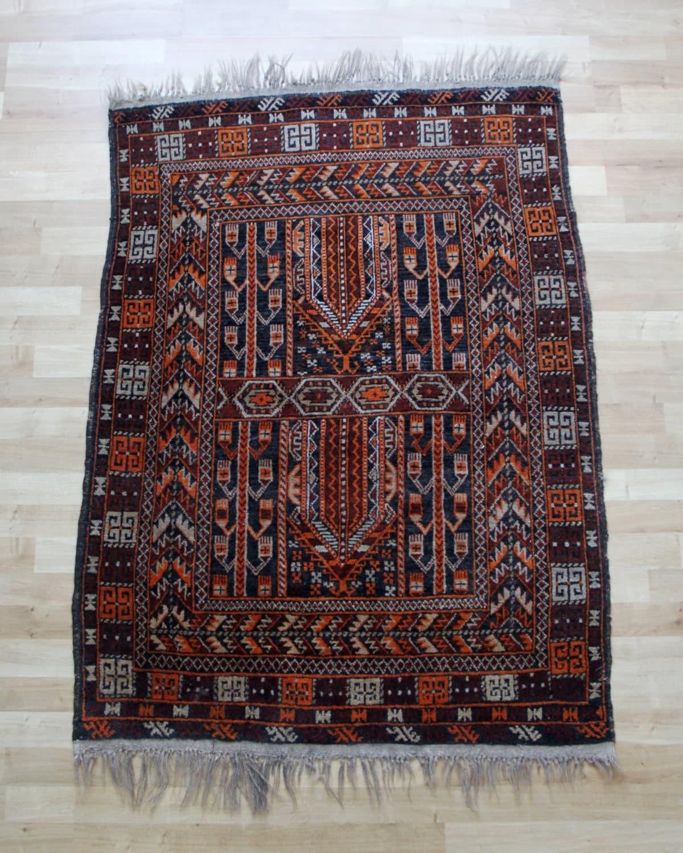Antique Afghan Rugs: SALE Vintage Afghan Rug Vintage Hand Knotted Afghan