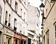Romantic street in Montmartre, Paris, France Digital, Printable Fine Art Photography,  INSTANT DOWNLOAD, Wall Decor, High Resolution