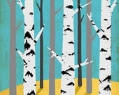birch print - A3 size